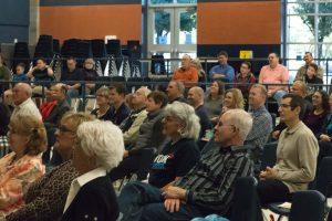 Congregation listening to Sunday message